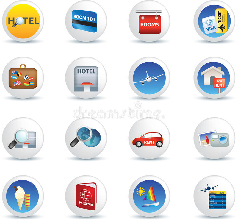 Download Travel Icon Set Royalty Free Stock Photography - Image: 12917977