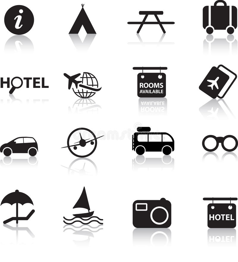 Download Travel icon set stock vector. Image of element, arrivals - 12918009