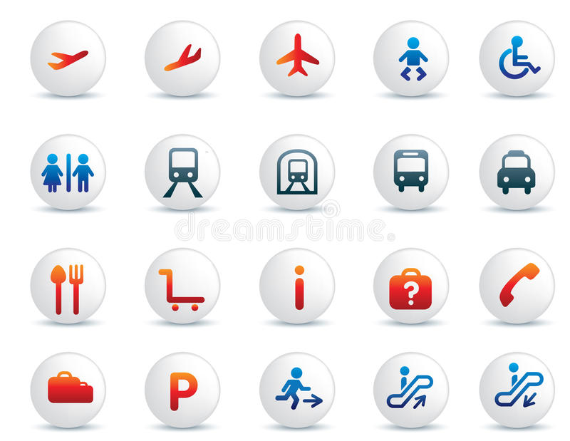 Travel Icon Set Royalty Free Stock Image