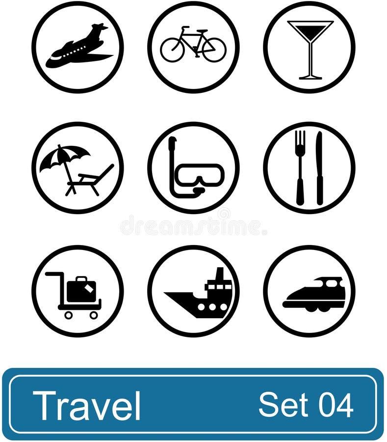 Free Travel Icon Set Royalty Free Stock Photo - 1537855
