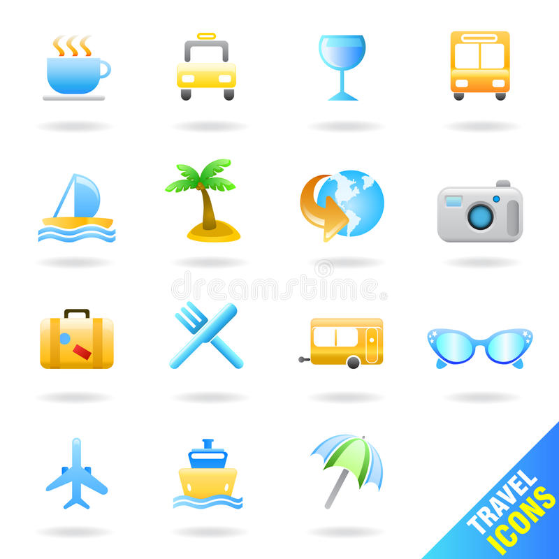 Download Travel icon set stock vector. Illustration of photo, design - 19328017