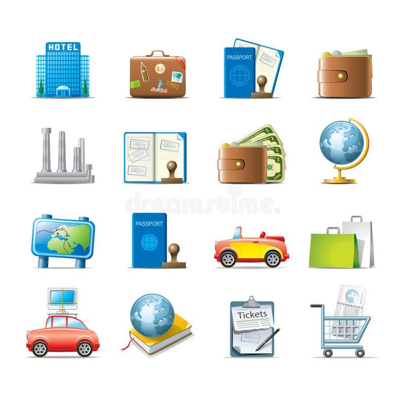 Download Travel icon set stock photo. Image of money, icons, hotel - 21171208