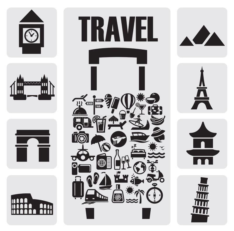 Travel icon set royalty free illustration