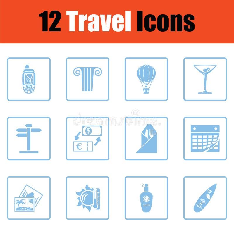Travel icon set stock illustration