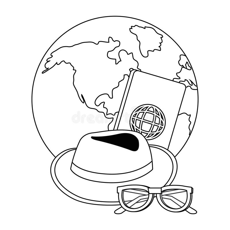 Travel icon set design. Trip vacation tourism journey tourist destination and holiday theme Vector illustration vector illustration