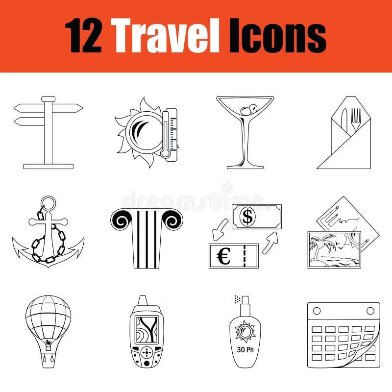 Travel icon set vector illustration