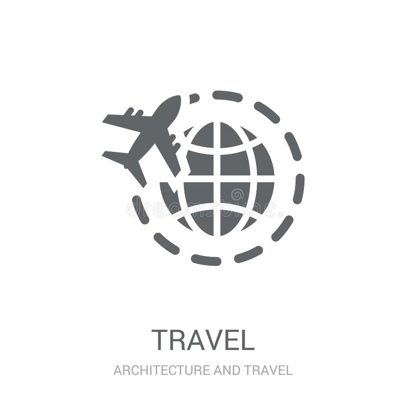 Travel icon. Trendy Travel logo concept on white background from. Architecture and Travel collection. Suitable for use on web apps, mobile apps and print media stock illustration