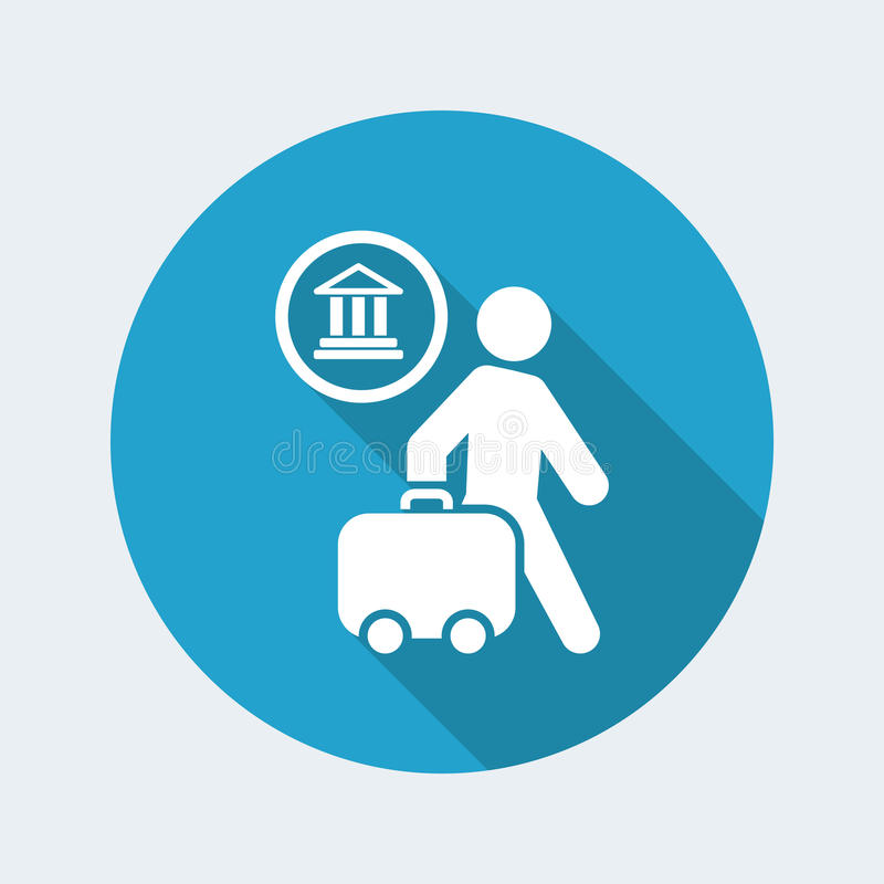 Travel icon stock illustration