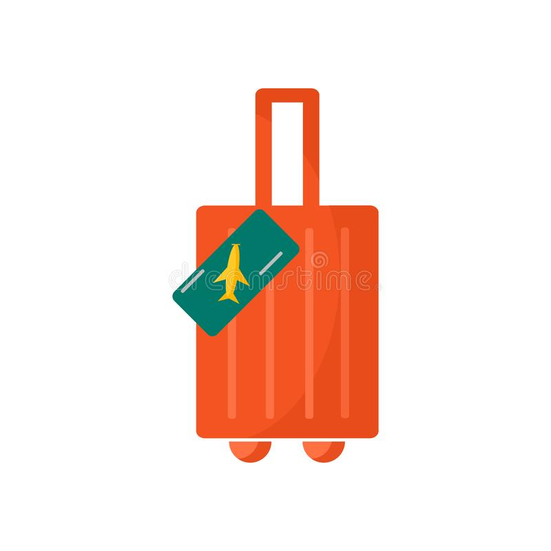Travel icon vector sign and symbol isolated on white background royalty free illustration