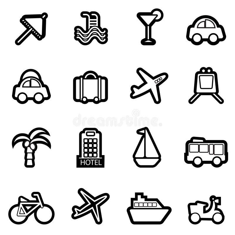 Travel icons stock illustration