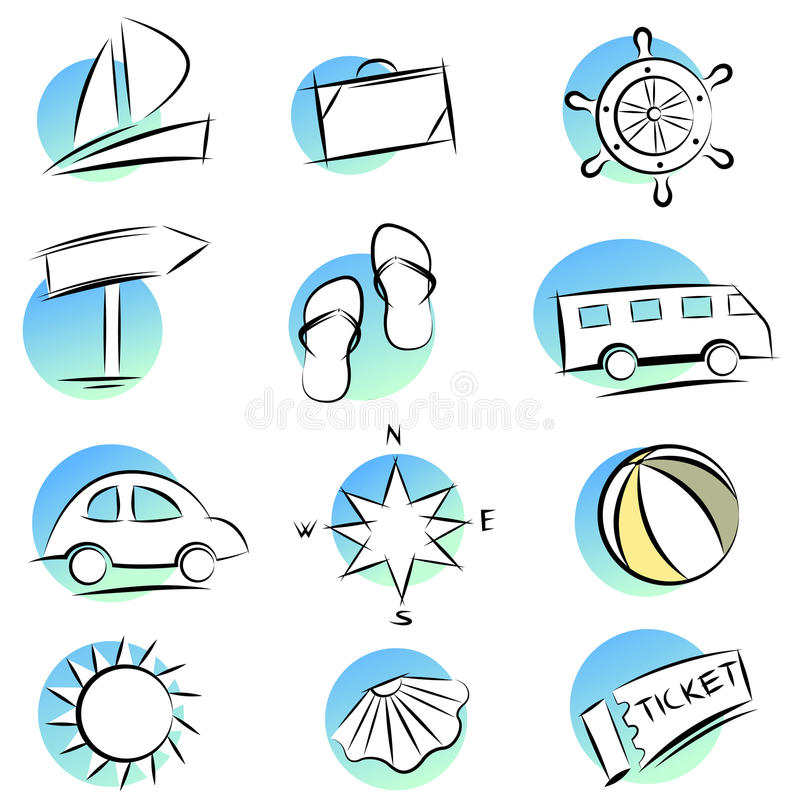 Travel icons vector illustration
