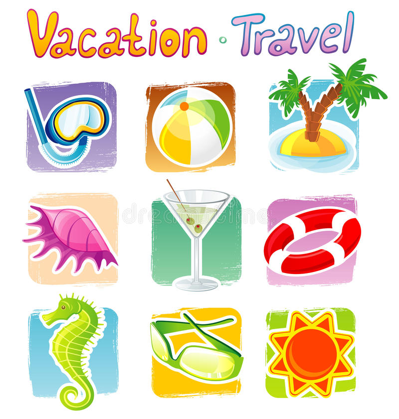 Download Travel icons stock vector. Illustration of destinations - 15045531