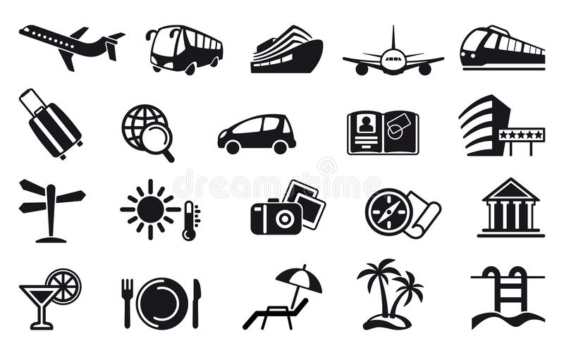 Download Travel Icons Stock Image - Image: 19430531
