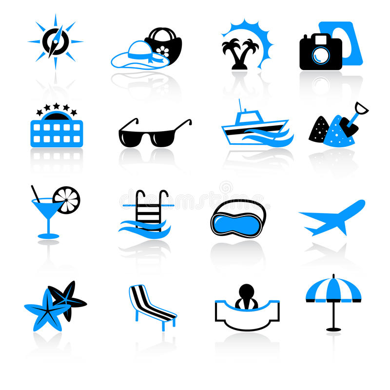 Download Travel icons stock vector. Image of lounge, agency, icon - 22354637
