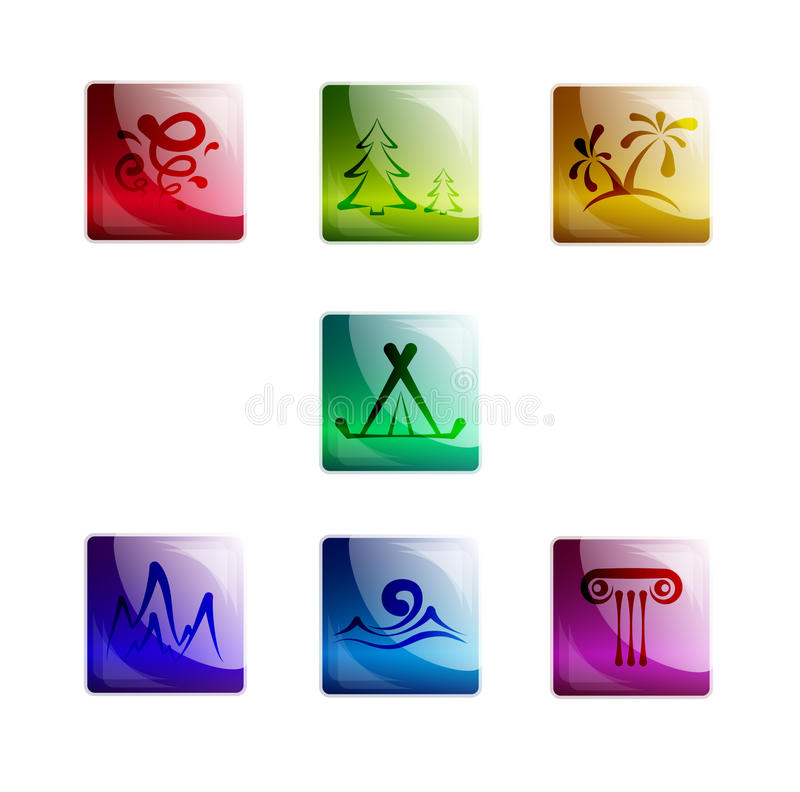 Download Travel icons stock vector. Image of objects, vacation - 22436852