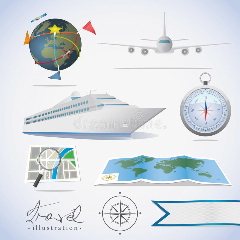 Download Travel icons stock vector. Image of airplane, illustration - 22578740