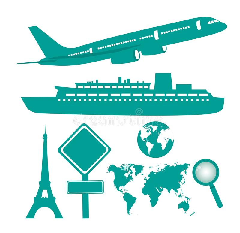 Travel Icons Royalty Free Stock Image