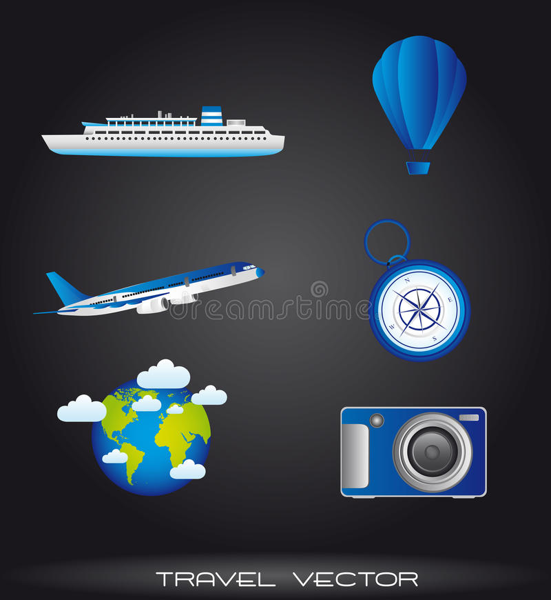 Download Travel icons stock vector. Image of vector, rent, camera - 23368600