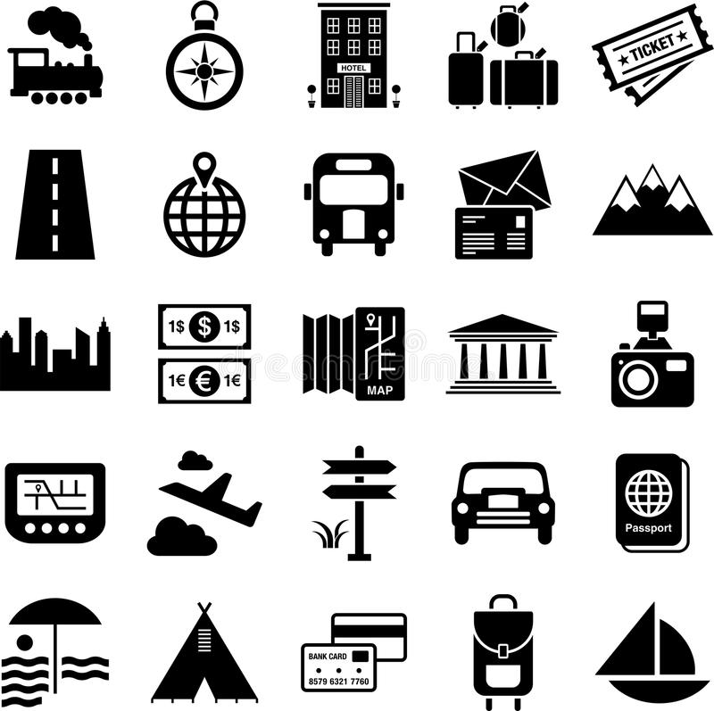 Download Travel Icons Stock Photo - Image: 26813210