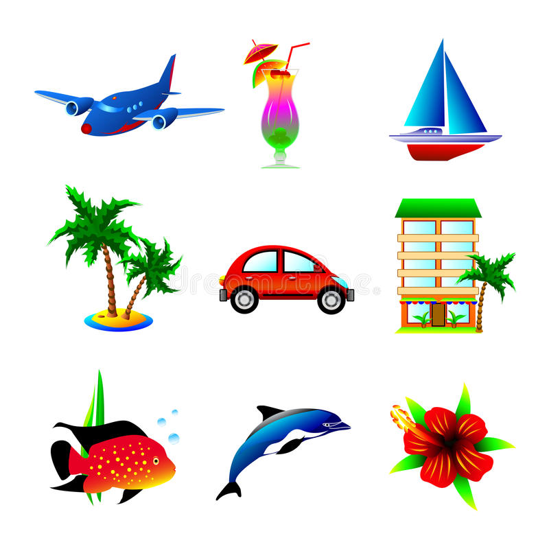 Download Travel  icons stock vector. Illustration of airplane - 29332775