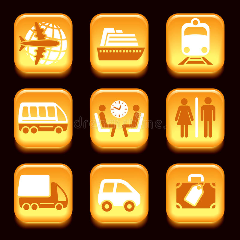 Download Travel icons stock vector. Image of clock, icon, element - 29391640