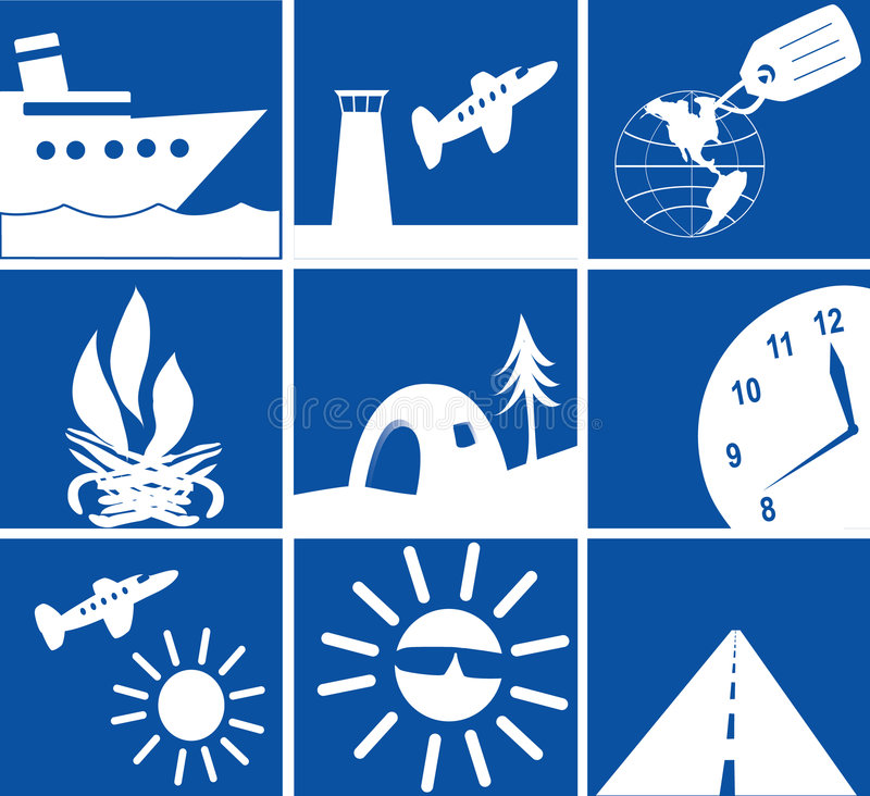 Download Travel Icons Royalty Free Stock Photo - Image: 4348805
