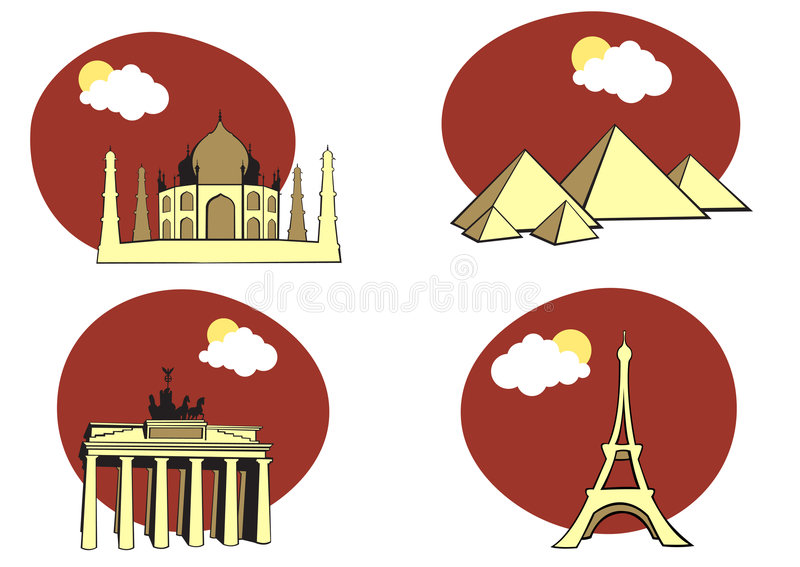 Download Travel icons stock vector. Image of france, acropolis - 7986852