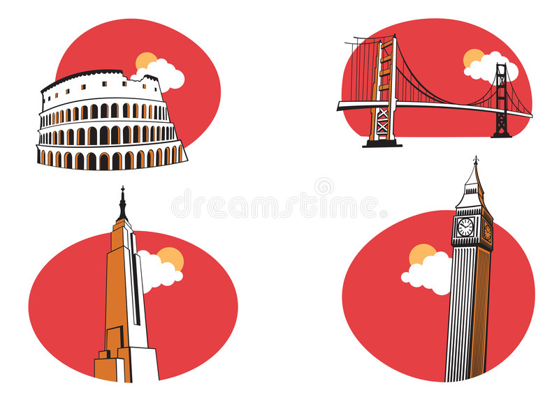 Travel Icons royalty free illustration