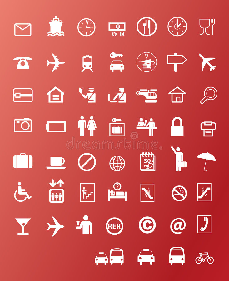 Travel icons stock illustration