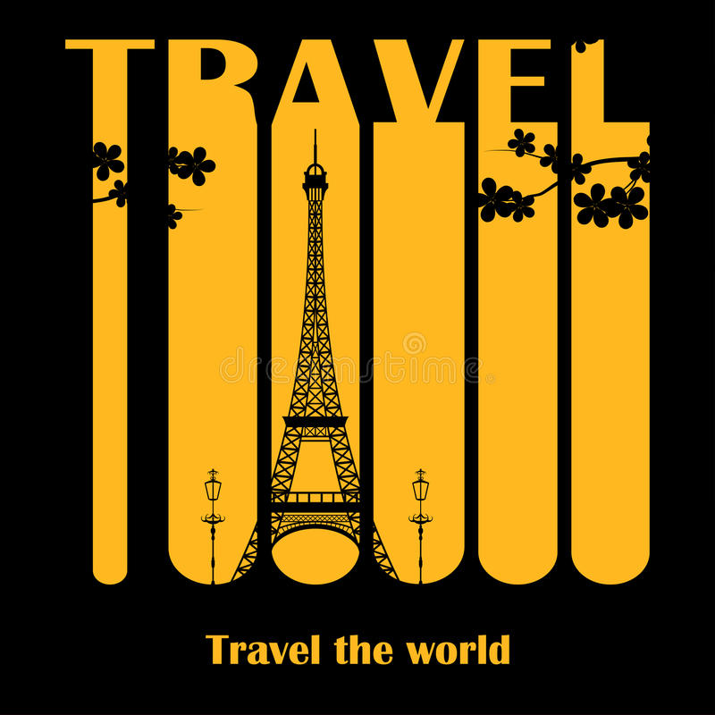 Travel icons. Abstract composition travels around the world royalty free illustration