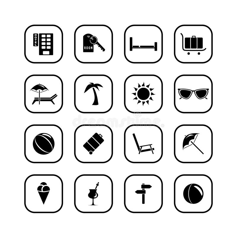 Download Travel Icons - B&W Series Royalty Free Stock Photo - Image: 10773835