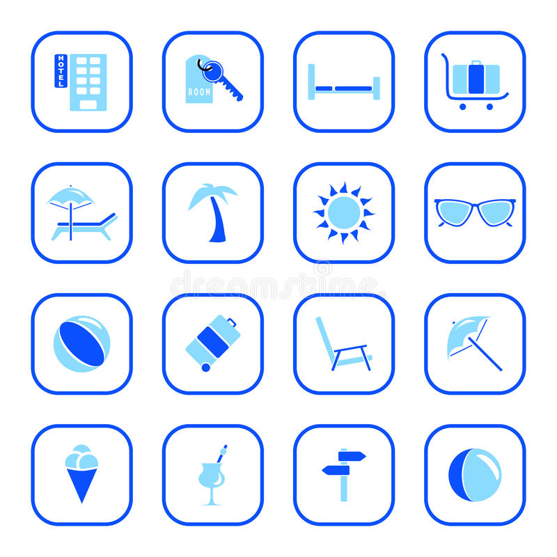 Download Travel Icons - Blue Series. Stock Vector - Illustration of icon, illustration: 10167347