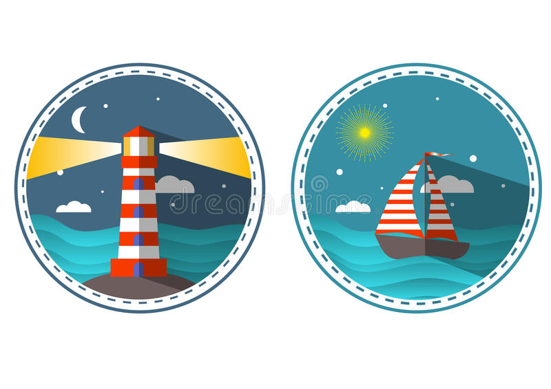 Download Travel icons in circle stock vector. Illustration of captain - 97842912