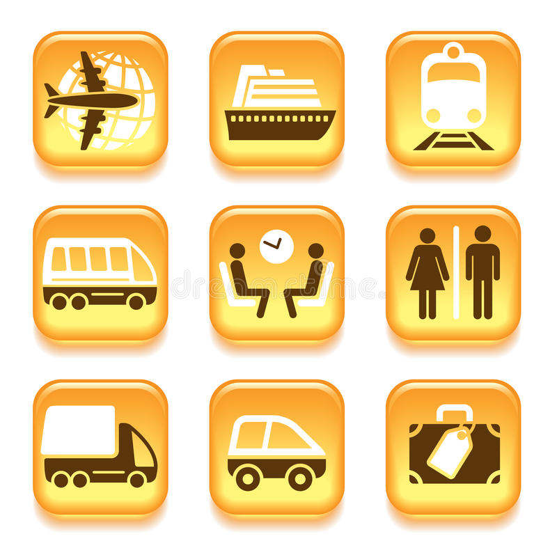 Download Travel icons stock vector. Illustration of shipping, cruise - 35065026