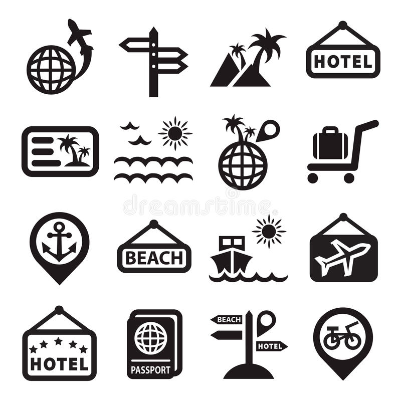 Download Travel vector icons stock vector. Image of palace, cruise - 31047797