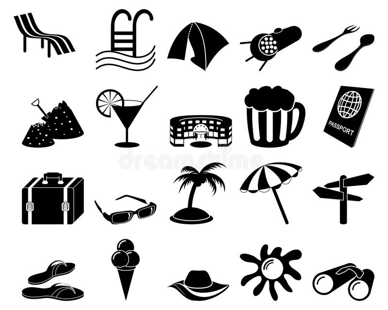 Download Travel icons set stock vector. Illustration of beaches - 11533054