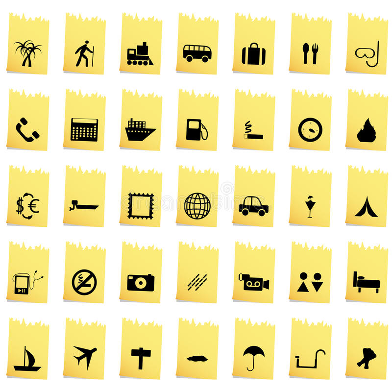 Download Travel icons set stock vector. Illustration of house - 24799276