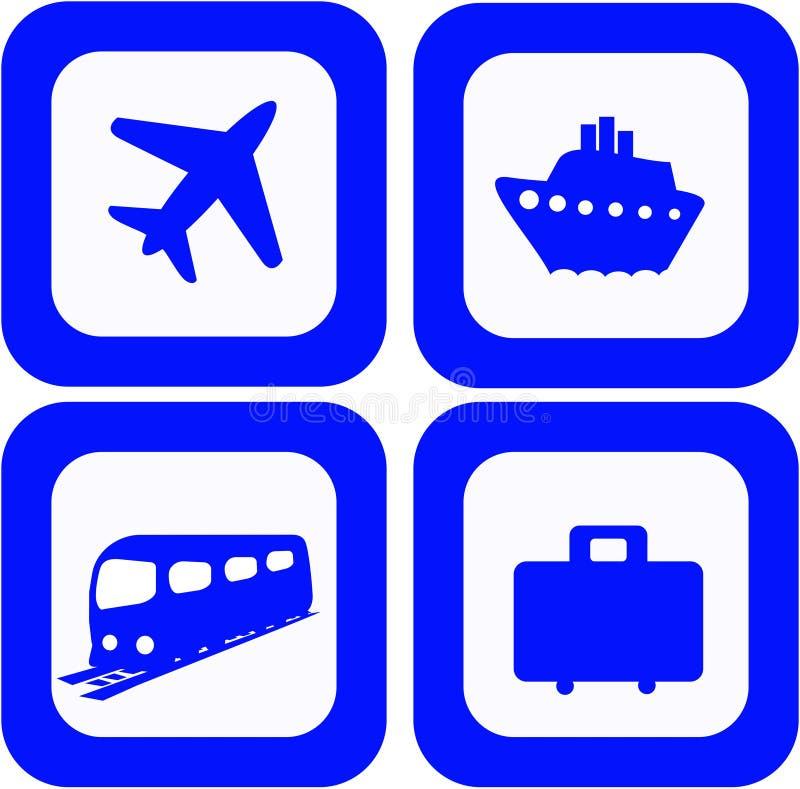 Travel icons set stock illustration