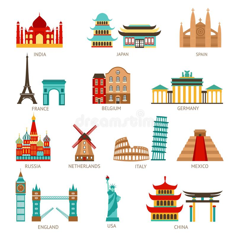 Travel Icons Set stock illustration
