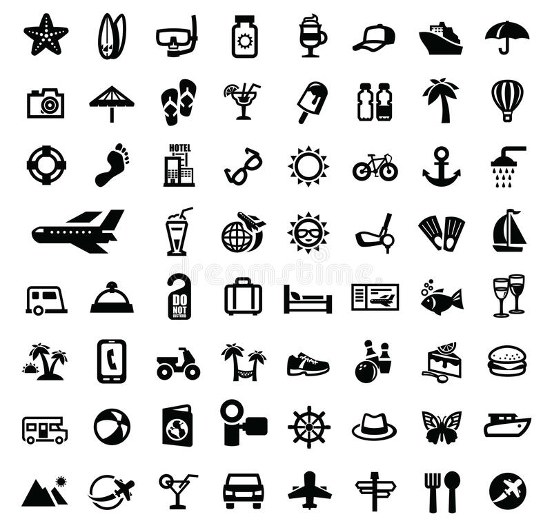 Download Travel icons stock vector. Image of cream, pictogram - 33342007