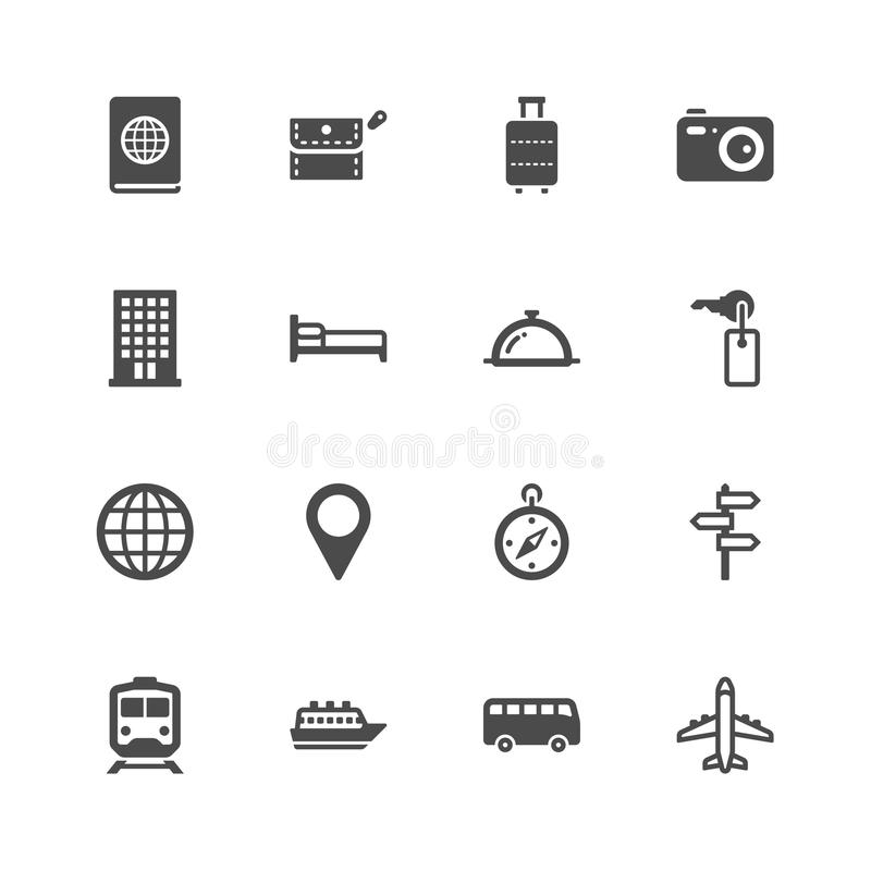 Download Travel icons stock vector. Image of holiday, tourism - 36406852