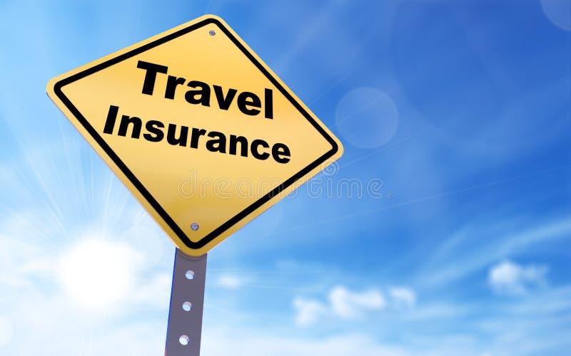 Travel insurance sign royalty free illustration