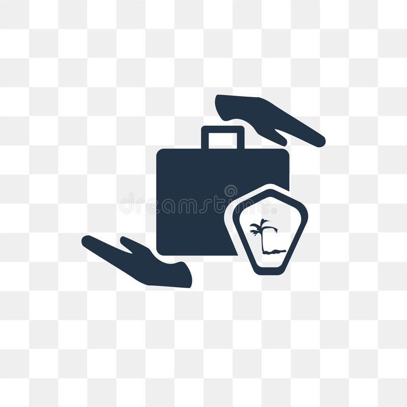 Travel insurance vector icon isolated on transparent background, Travel insurance transparency concept can be used web and mobile royalty free illustration
