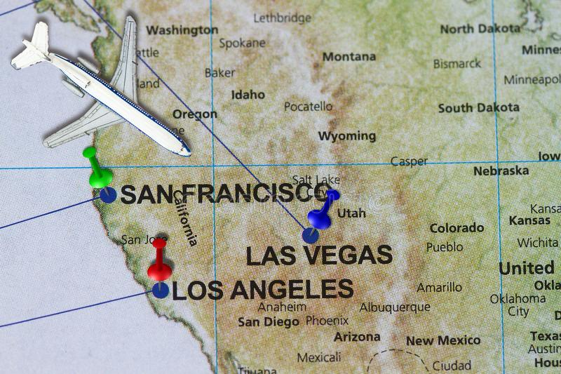 Travel journey to California San Francisco and Los Angeles concept royalty free stock photography