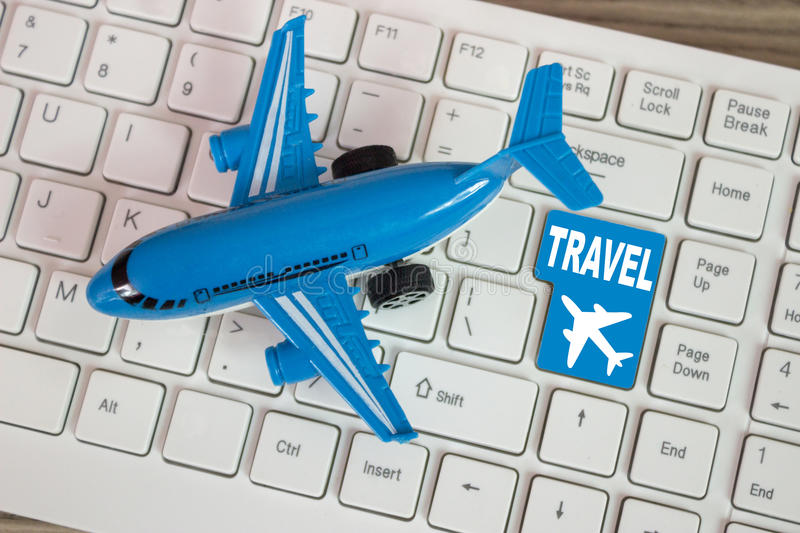 Travel is just one click away royalty free stock image