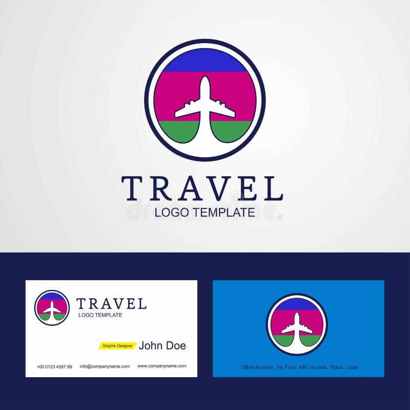 Travel Kuban Peoples Republic Creative Circle flag Logo and Business card design vector illustration