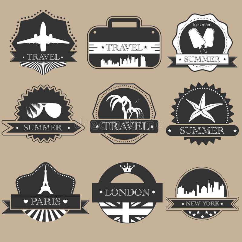 Download Travel labels stock vector. Illustration of london, insignia - 24655705