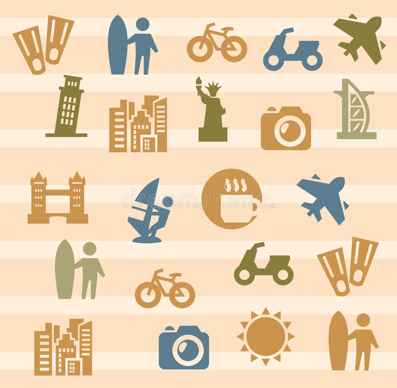 Download Travel and landmarks icons stock vector. Illustration of culture - 28708419