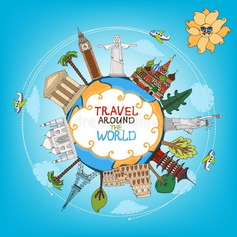 Free Travel Landmarks Monuments Around World Royalty Free Stock Photography - 39797097