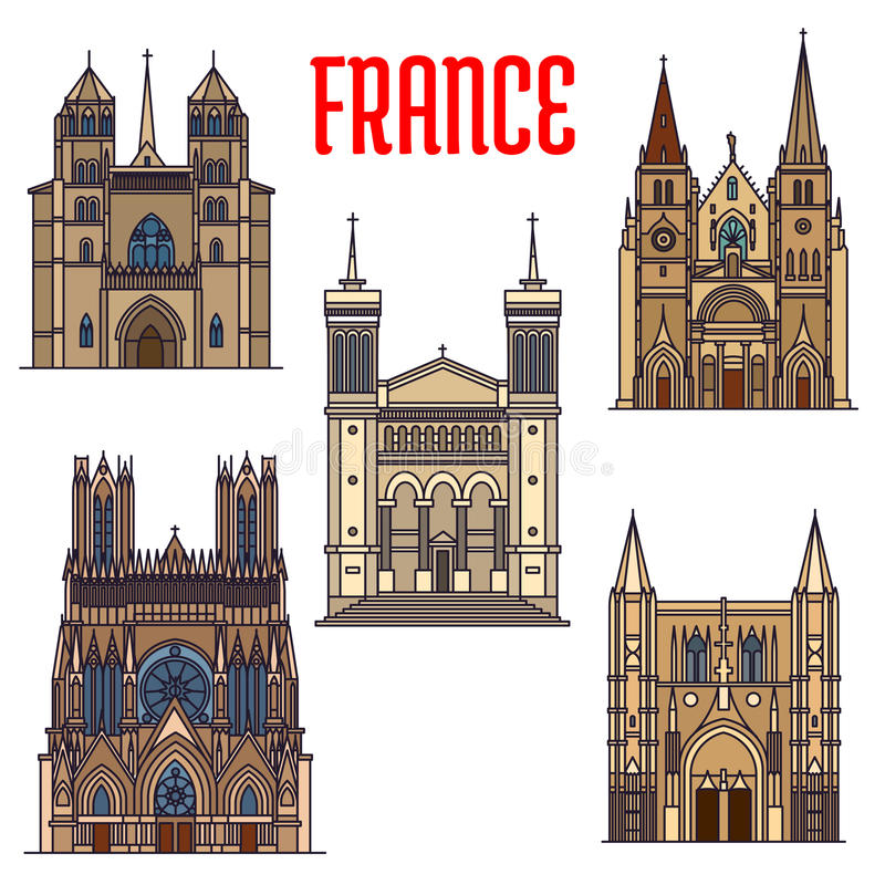 Free Travel Landmarks Of French Gothic Architecture Royalty Free Stock Image - 77109656